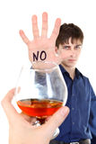 Teenager refuses Alcohol Royalty Free Stock Photo