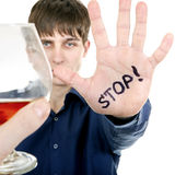 Teenager refuses Alcohol Stock Photos
