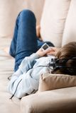 Teenager relaxing Stock Photography