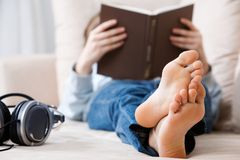 Teenager relaxing Royalty Free Stock Image