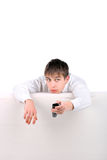 Teenager with Remote Control Stock Photos