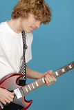 Teenager Rocking Out Stock Photo