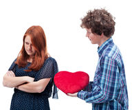 Teenager romance Stock Photography