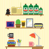 Teenager room workplace vector illustration Stock Images