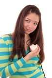 Teenager with a rose. Royalty Free Stock Photo