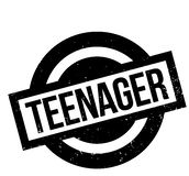 Teenager rubber stamp. Grunge design with dust scratches. Effects can be easily removed for a clean, crisp look. Color is easily changed Stock Photography