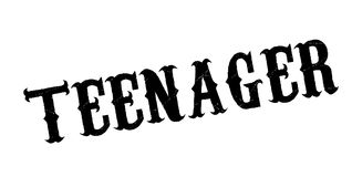 Teenager rubber stamp. Grunge design with dust scratches. Effects can be easily removed for a clean, crisp look. Color is easily changed Royalty Free Stock Photos