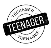 Teenager rubber stamp. Grunge design with dust scratches. Effects can be easily removed for a clean, crisp look. Color is easily changed Stock Photos