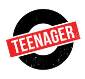 Teenager rubber stamp. Grunge design with dust scratches. Effects can be easily removed for a clean, crisp look. Color is easily changed Stock Photo