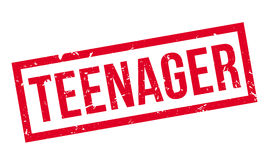 Teenager rubber stamp Royalty Free Stock Photo