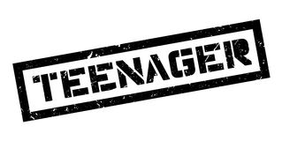Teenager rubber stamp Stock Image