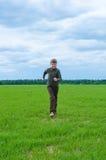 Teenager running Stock Image