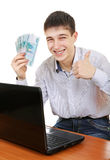 Teenager with a Russian Currency Royalty Free Stock Photo