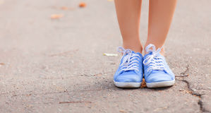 Teenager's foots Royalty Free Stock Photos