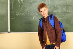 Teenager at a school Stock Image