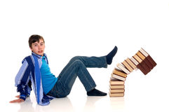 Teenager schoolboy Stock Photography