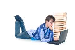 Teenager schoolboy stock photography