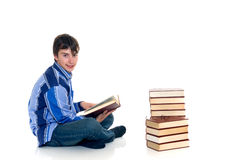 Teenager schoolboy stock image