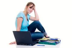 Teenager schoolgirl Stock Images