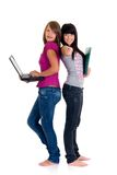 Teenager schoolgirls Royalty Free Stock Image