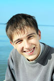 Teenager at seaside Stock Photos