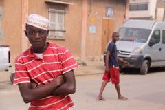 Teenager senegalese alla moda su Tabaski fotografie stock libere da diritti