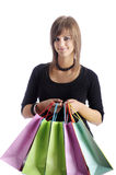 Teenager with shopping bags Royalty Free Stock Photo