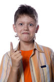 Teenager showing gesture Royalty Free Stock Photo