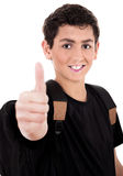 Teenager shows thumbs up Stock Photos