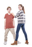Teenager siblings Royalty Free Stock Image