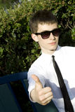 Teenager sign thumbs up Royalty Free Stock Image