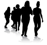 Teenager silhouettes Royalty Free Stock Photos
