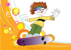 Teenager and skate. royalty free stock photo