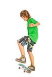 Teenager on skateboard Royalty Free Stock Photos