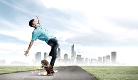 Teenager on skateboard Stock Photography