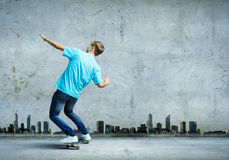 Teenager on skateboard Stock Photography