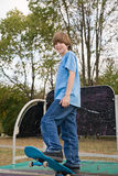 Teenager Skateboarding Royalty Free Stock Images