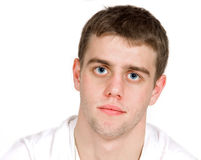 Teenager with skeptical expression. Teenager portrait with skeptical expression Stock Photo