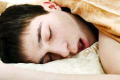 Teenager sleep Royalty Free Stock Photos