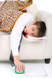 Teenager sleeping Royalty Free Stock Images