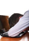 Teenager sleeps on Laptop Stock Photo