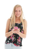 Teenager with smartphone Royalty Free Stock Photo