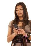 Teenager sms addiction Royalty Free Stock Photos