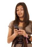 Teenager sms addiction Royalty Free Stock Photos