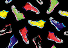 Teenager sneakers pattern. Royalty Free Stock Image