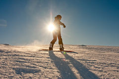 Teenager or snowboard Stock Images