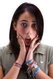 Teenager sorpreso Fotografie Stock Libere da Diritti