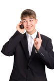 Teenager speak on the phone Royalty Free Stock Photos
