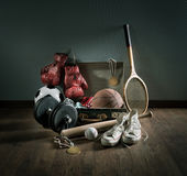 Teenager sports equipment royalty free stock images