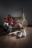 Teenager sports equipment Royalty Free Stock Photos